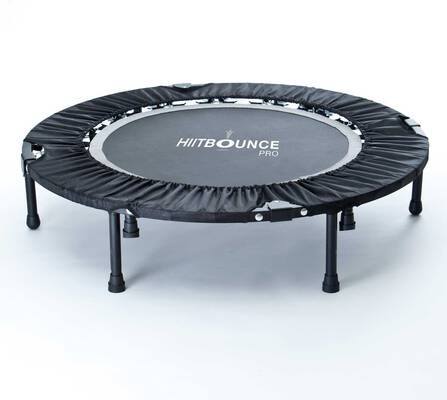 #1. MaXimus HIIT Bounce Pro Foldable Rebounder Trampoline w/Flat or Incline for Adults
