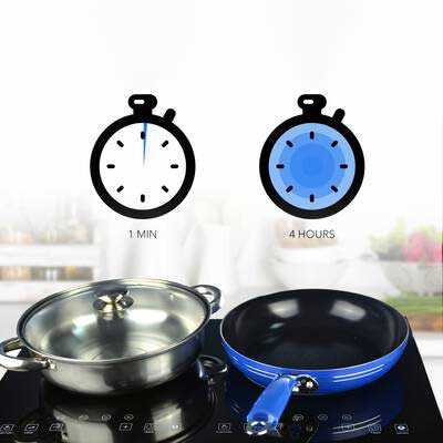 #1.Evergreen Home 1800W Portable Double Induction cooker