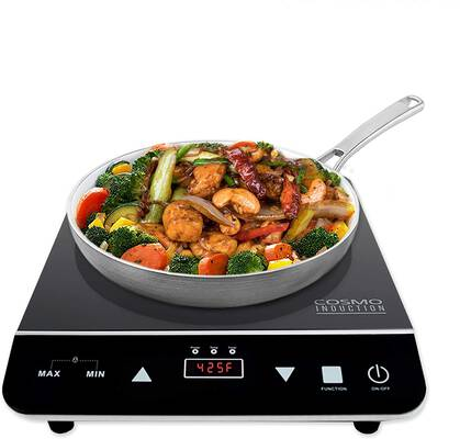 #6. Cosmo COS-YLIC1 1800-Watt Electric Induction Cooktop with Sensor LED Display