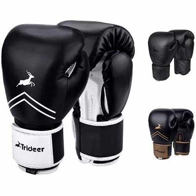 #9. Trideer Pro Grade Kickboxing Bagwork Gel Muay Thai Sparring Training Gloves