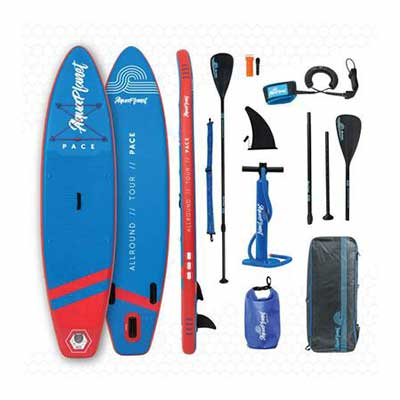 #3. Aquaplanet Adjustable Aluminum SUP Floating PACE Stand Up Paddle Board