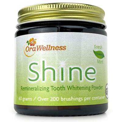 1. OralWellness Fresh Mint Tooth Shine Natural Teeth Stain Remover & Remover Clay Powder