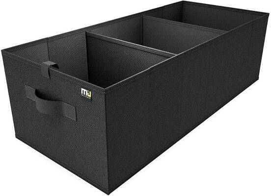 #8. MIU COLOR Expandable Large Capacity Portable Foldable Car Trunk Organizer with Strap Handle