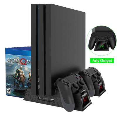 #3. OIVO Cooler PS4 Slim Pro Vertical Cooling Stand Multifunctional PS4 Controller Charger