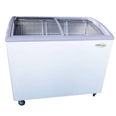 #9. Premium PFR740G 7.4 cu. Ft. Curved Glass Lid Top in ETL Listed Spacious Chest Freezer (White)