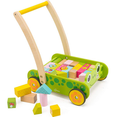 #9. cossy Wooden Baby Walker for 1-Year-Old, 34 pcs.