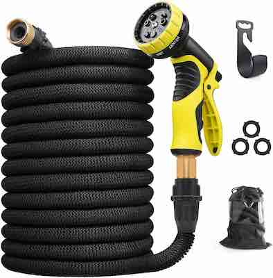 #5. Aterod 75 ft. 9 Function Spray Nozzle Extra Strength Fabric Flexible Garden Hose