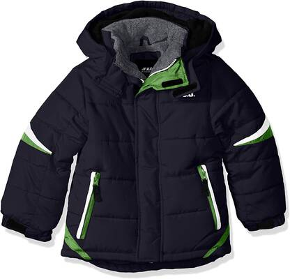 8. LONDON FOG Pull-On Closure Heavyweight Water-Resistant Boys' Active Puffer Winter Coat
