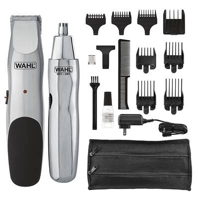 #8. Wahl Groomsman Model-5623 Cord/Cordless Mustache Hair & Nose Hair Trimmer for Men