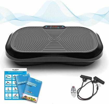 #4. Bluefin Fitness Vibration Platform, Ultra Slim, Built-in Bluetooth Speakers