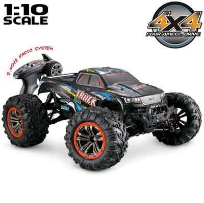#3. Hosim Large Size 1:10 Scale 46km/h High Speed 2.4 GHz Radio Controlled Off-Road RC Truck (Black)