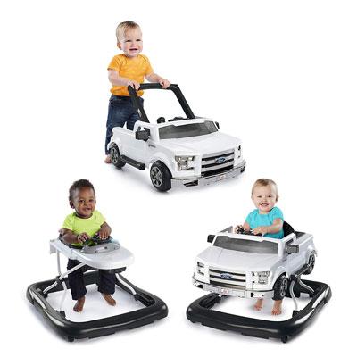 #2. Bright Starts Baby Push Walker - 3 Ways to Play, White