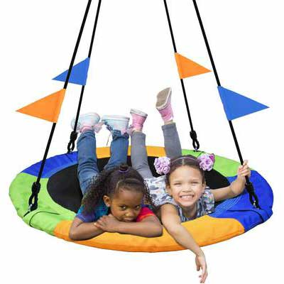 3. PACEARTH 40Inch Saucer Tree Swing - 660lbs. Weight Capacity