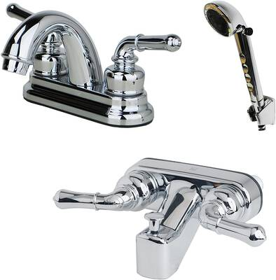 #5. Laguna Brass Tub Faucet with a Chrome Finish