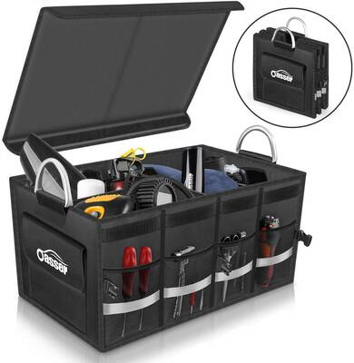 #3. Oasser Waterproof Collapsible Multi-Compartments Durable Foldable Trunk Organizer Storage