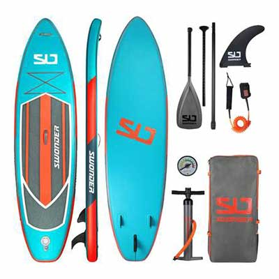 #2. SWONDER Ultra-Durable Full SUP Pack Premium Inflatable Stand Up Paddle Board