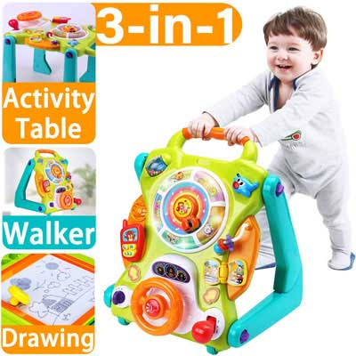 #3. iPlay, iLearn Baby Walkers Toys, Lights n Sounds and an Activity Center for Toddlers