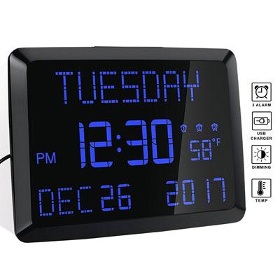 #3. ROCAM 11.5'' Day Digital Wall Clock