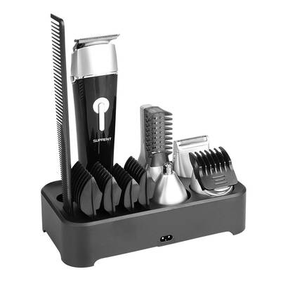 #9. SUPRENT Cordless 100% Waterproof Fast & Quick Charge 5-in-1 Hair Clipper for Men