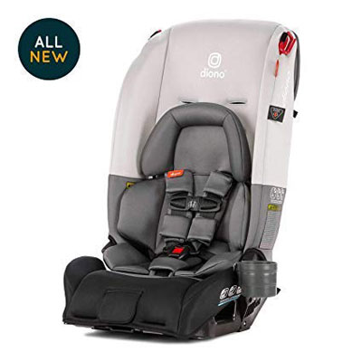6. Diono Radian 3RX Infant Car Seat, Light Grey