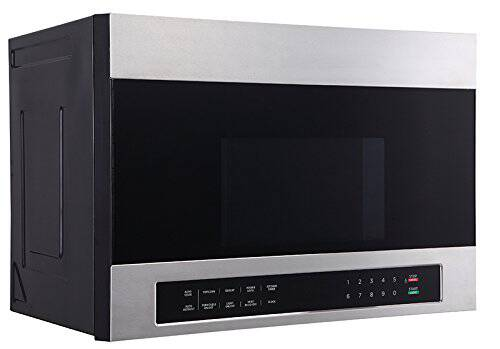 #1. Avanti MOTR13D3S 24'' 1000W Stainless Steel Over-The-Range Countertop Microwave Oven