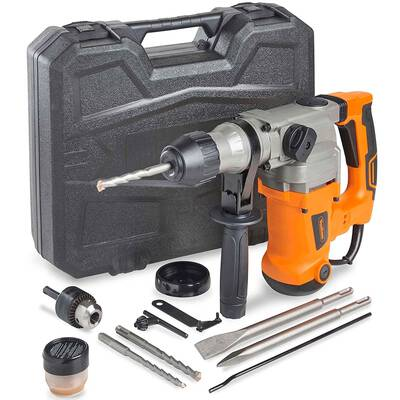 #6. VonHaus 10 Amp with Vibration Control 3 Function Adjustable Handle Rotary Hammer Drill