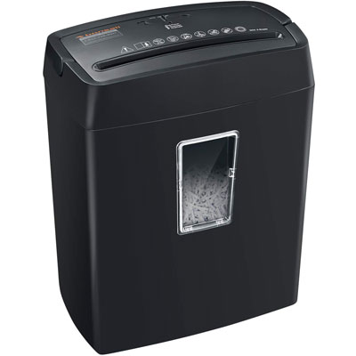 10. Bonsaii 6-Sheet Paper Shredder for Small Office, Black (C204-C)