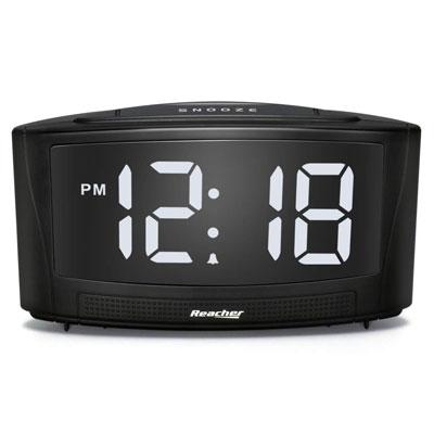 #7. REACHER Digital Alarm Clock with USB Port