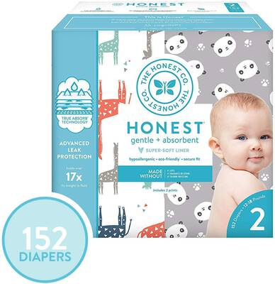 #1. The Honest Company Super Club Box Diapers with TrueAbsorb Technology