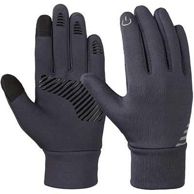 #5. VBG VBIGER Touchscreen Gloves Fleece Bike Winter Gloves for Kids 4 – 10 Years