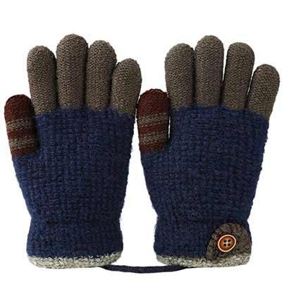 #9. VBG VBIGER Kids Fleece Lined Full Finger Kids Winter Gloves for Children 4-6 years