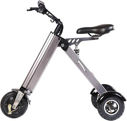 #2. TopMate ES31 Mini Foldable Electric Scooter Tricycle w/3 Shock Absorbers & 3 Gears Speed