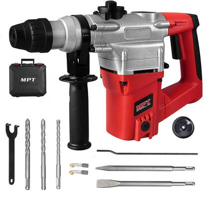 #9. MPT 1inch SDS-Plus Heavy Duty 8.5 Amp 3 Function & Variable Speed Rotary Hammer Drill