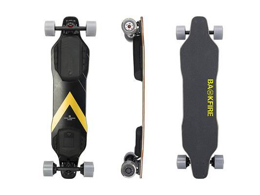 #5. BACKFIRE G2T Hub Motor Electric Longboard Skateboard with 23 mph Top Speed and 96mm Wheels