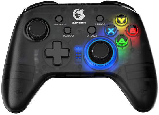 2. GameSir Semi-Transparent T4 Pro LED Backlight Wireless Game Controller for Mobile Phone, PC, etc.