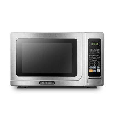 #6. BLACK+DECKER EM036AB14 Turntable Push-Button 1000W 1.4cu. Ft. Digital Microwave Oven