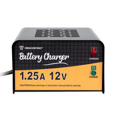 5. DEKOPRO Battery Charger, 1.25 Amp