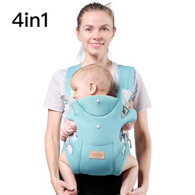 7. TIANCAIYIDING Soft and Breathable Ergonomic Baby Carrier for Toddlers Up to 44 lbs.
