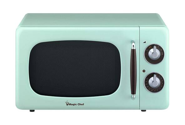 #9. Magic Chef MCD770CM 0.7cu. Ft. 700W Retro Countertop Microwave Oven (Mint Green)