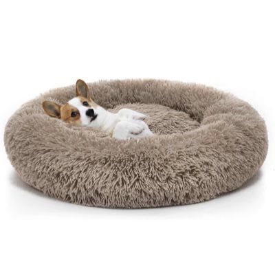 8. MIXJOY Ultra-Soft Orthopedic Donut Washable Cuddler Round Dog Cushion Bed