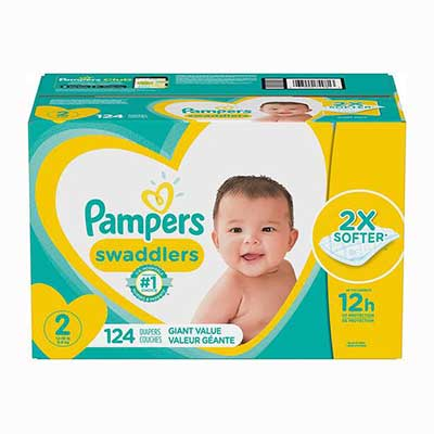 #7. Pampers Swaddlers Disposable Baby Diapers, Giant Pack