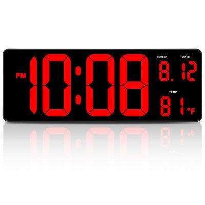 #7. DreamSky 14.5'' Digital Wall Clock