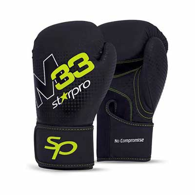 #7. Starpro Synthetic Leather Training Muay Thai Punching Heavy-Duty Punch Bag Mitts