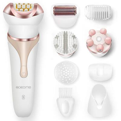 #4. OOCOME 4-in-1 Cordless Women's Electric Razor Rechargeable Waterproof Hair Removal Epilator
