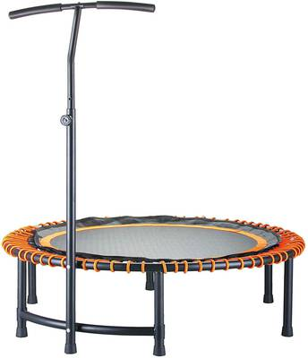 #8. CASTOOL 45Inch Ultra-Quiet Mini Circular Trampoline w/Adjustable Handle Indoor Fitness for Adults