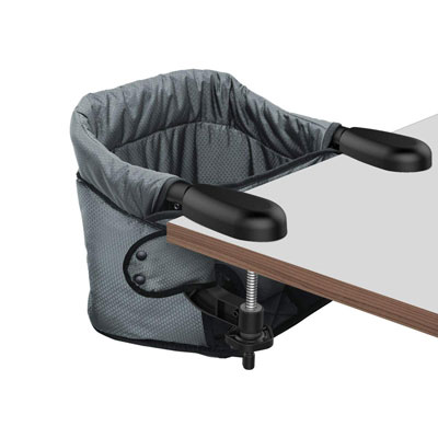 #6. Toogel w/ Fold-Flat Storage Attach to Fast Table Hook-on High Chair for Home & Travel