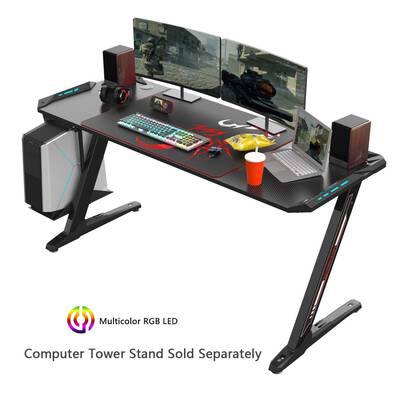 #1. EUREKA ERGONOMIC Z60 RGB Z-Shaped Large PC Gaming Desk for E-Spot Racing Gamer Pro