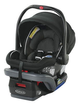 8. Graco SnugRide 35 DLX Infant Car Seat, Binx