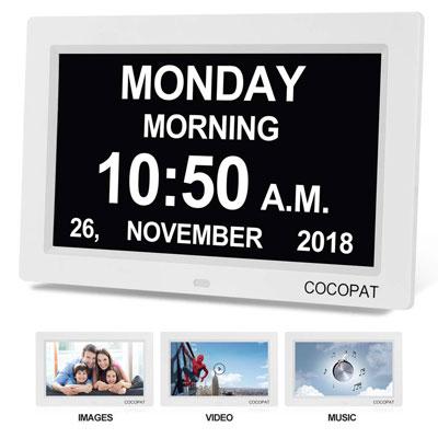 #1. Cocopat Digital Wall Clock