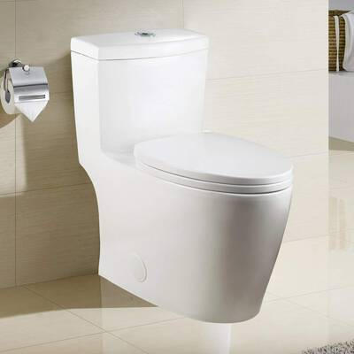 #5. Winzo WZ5028 Elongated Toilet, ADA Comfortable Height with a Soft Closing Seat
